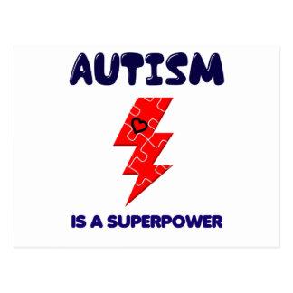 Carte Postale L'autisme est la superpuissance, esprit mental de