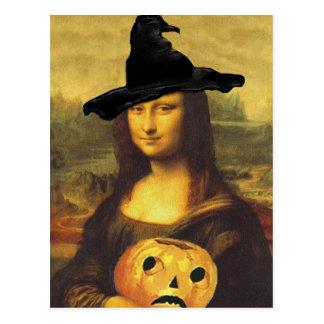 Carte Postale L'automne de Mona Lisa de sorcière a changé l'art