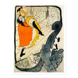 Carte Postale Lautrec : La danse de Jane Avril Pouvoir-Peut