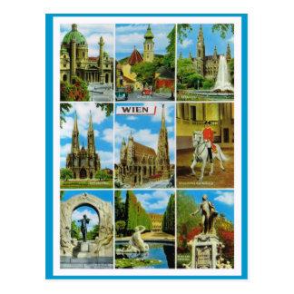 Carte Postale L'Autriche vintage, Wien, Vienne, Multiview