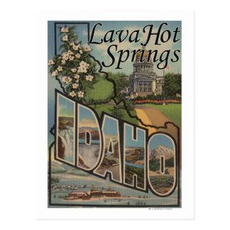 Carte Postale Lave Hot Springs, Idaho - grandes scènes de lettre