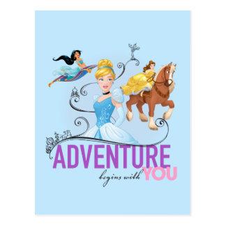 Carte Postale L'aventure des princesses   de Disney commence par