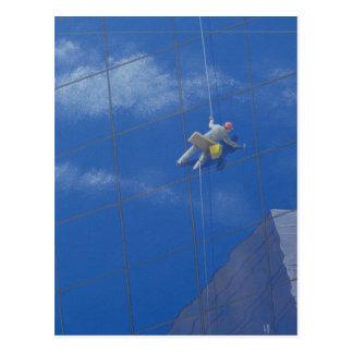 Carte Postale Laveur de vitres 1990
