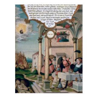 Carte Postale Lazarre et le Tableau d'homme riche
