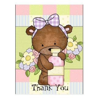 Carte Postale Le baby shower vous remercient de soutenir la