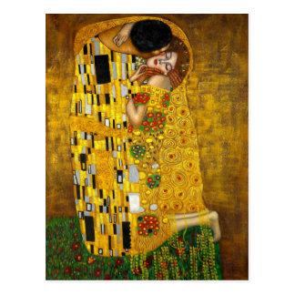 Carte Postale Le baiser par Gustav Klimt