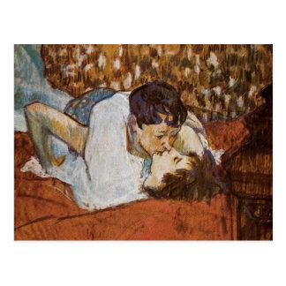 Carte Postale Le baiser - par Henri De Toulouse-Lautrec