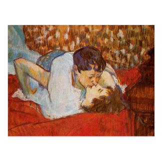 Carte Postale Le baiser par Toulouse-Lautrec