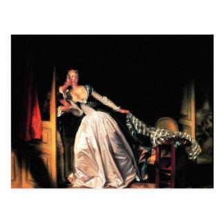 Carte Postale Le baiser volé par Jean-Honore Fragonard