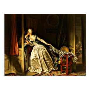 Carte Postale Le Baiser volé, tableau de Jean-Honore Fragonard