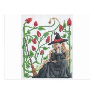 Carte Postale Le balai de sorcière