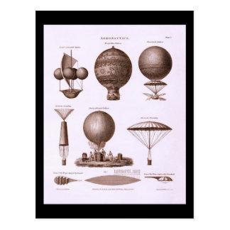 Carte Postale Le ballon à air chaud historique conçoit l'image