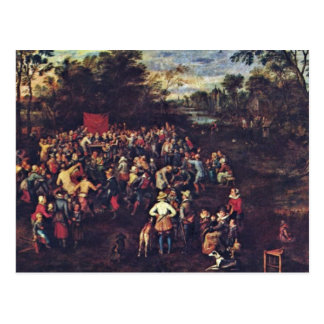Carte Postale Le banquet de mariage par Bruegel D. Ä. janv.