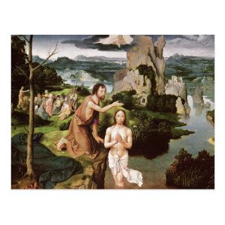 Carte Postale Le baptême du Christ, c.1515