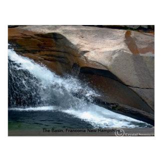 Carte Postale Le bassin, Franconia New Hampshire