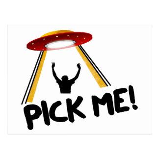Carte Postale Le bateau étranger d'UFO - sélectionnez-moi !
