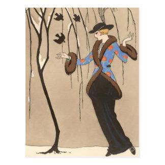 Carte Postale Le beau moineau par George Barbier
