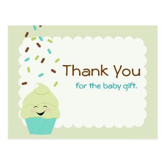 Carte Postale Le bébé arrosent le neutre de genre de Merci