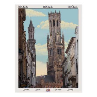 Carte Postale Le beffroi à Bruges