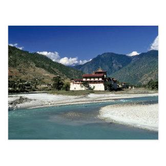 Carte Postale Le Bhutan, Punaka. La rivière de MOIS Chhu coule