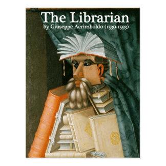 Carte postale : Le bibliothécaire
