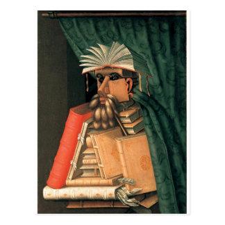 Carte Postale Le bibliothécaire de Giuseppe Arcimboldo