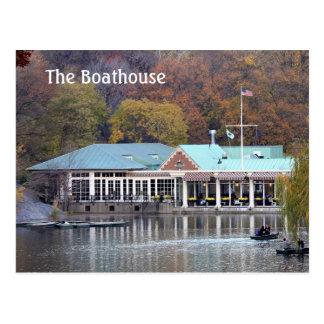 Carte Postale Le Boathouse en parc, photo d'automne