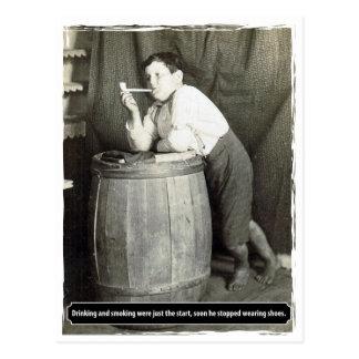 Carte Postale Le boire et le tabagisme étaient juste le début