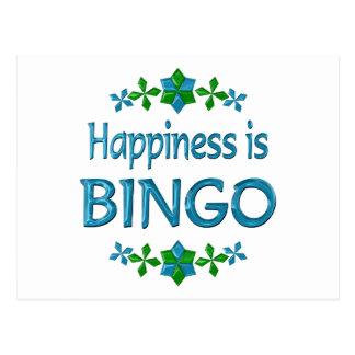 Carte Postale Le bonheur est bingo-test
