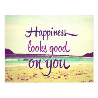 Carte Postale Le bonheur semble bon sur vous