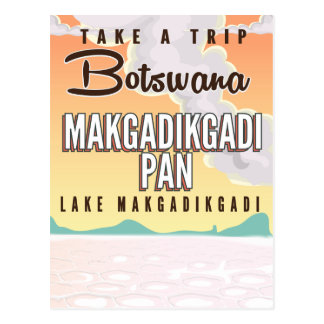 Carte Postale Le Botswana - l'affiche vintage de voyage de