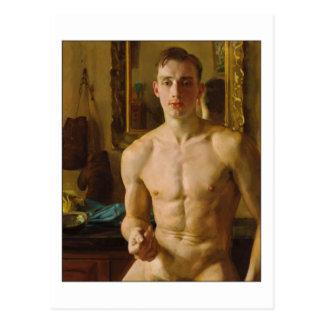 Carte Postale Le boxeur par Konstantin Somov
