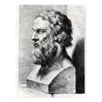 Carte Postale Le buste de Platon a gravé par Lucas Emil