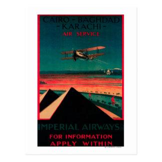Carte Postale Le Caire - Bagdad - poster vintage d'air de