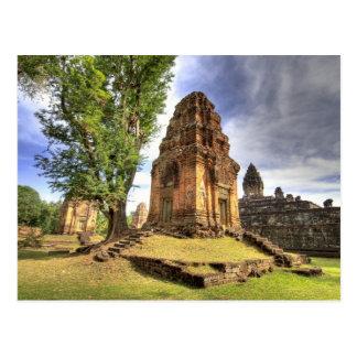 Carte Postale Le Cambodge, Angkor Vat. Vue de temple de Bakong