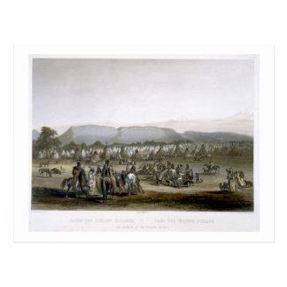Carte Postale Le campement des Indiens de Piekann, plaquent 43