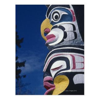 Carte Postale Le Canada, Vancouver, parc de Stanley, poteau de