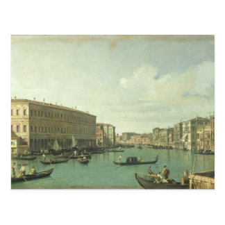 Carte Postale Le canal grand du pont de Rialto