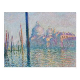 Carte Postale Le canal grand par Monet