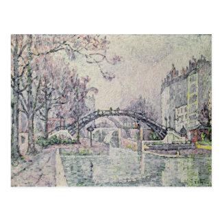 Carte Postale Le canal St Martin, 1933