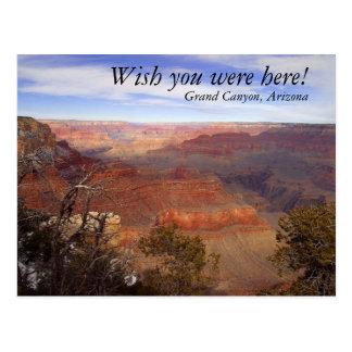 Carte Postale Le canyon grand, souhaitent que vous ayez été ici