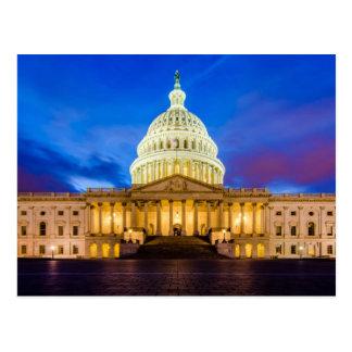 Carte Postale Le capitol des Etats-Unis à l'heure bleue