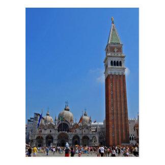 Carte Postale Le carré de St Mark, Venise