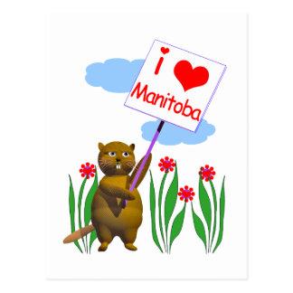 Carte Postale Le castor canadien aime Manitoba