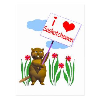 Carte Postale Le castor canadien aime Saskatchewan