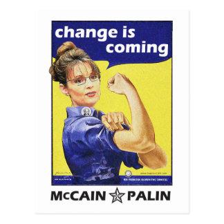 """Carte Postale Le """"changement est"""" McCain/Parti Républicain"""