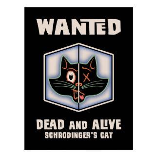 Carte Postale Le chat de Schrodinger voulu