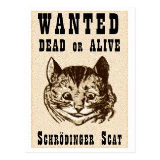 Carte Postale Le chat de Shrodinger a voulu l'affiche