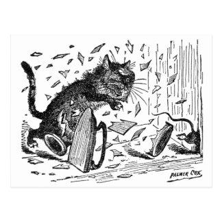 Carte Postale Le chat perd le dîner quand la souris s'échappe