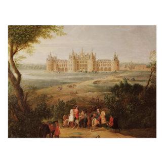 Carte Postale Le château de Chambord, 1722